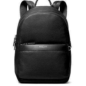 Michael Kors Greyson black leather backpack